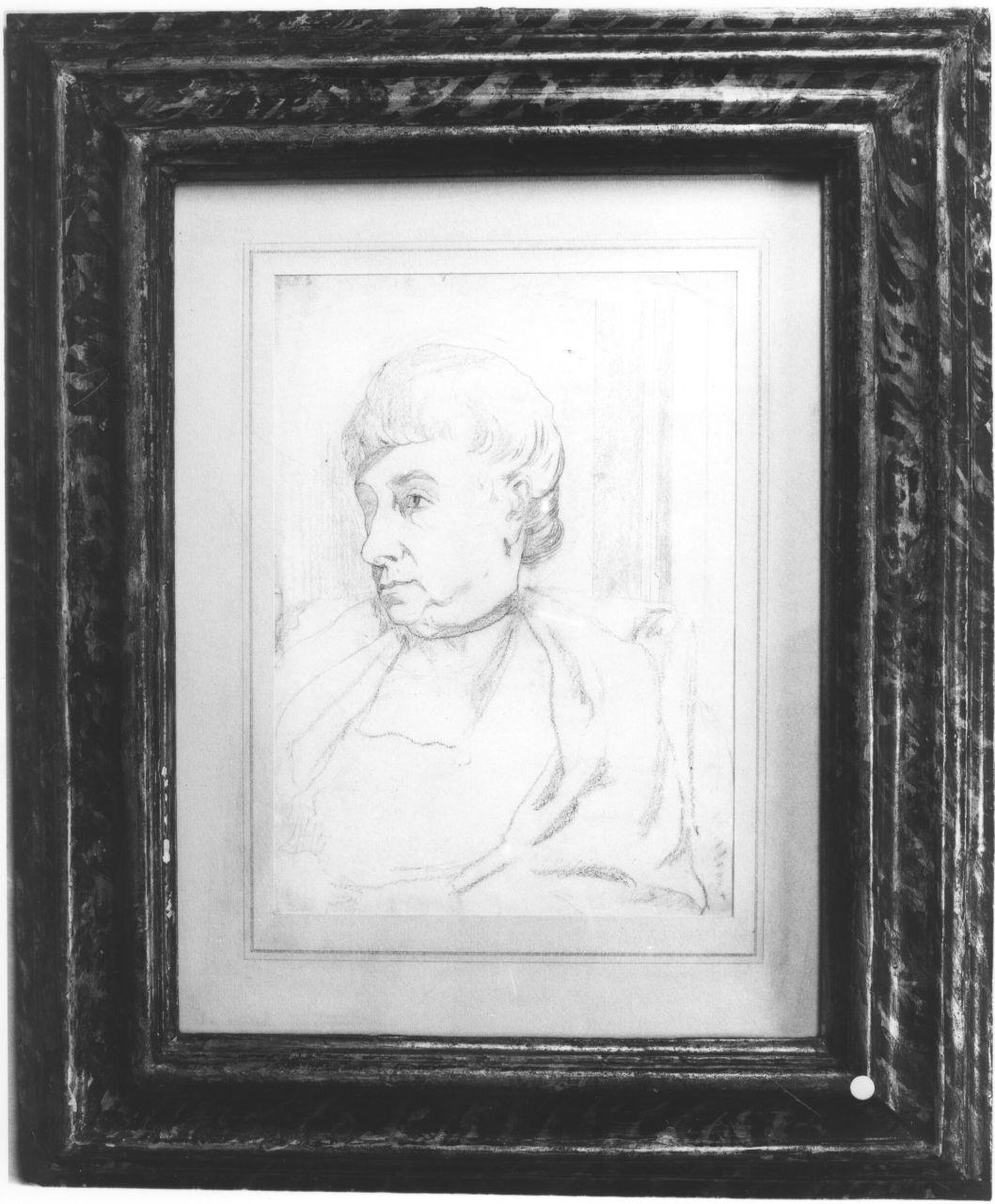 ritratto di donna (disegno) di De Chirico Giorgio (primo quarto sec. XX)