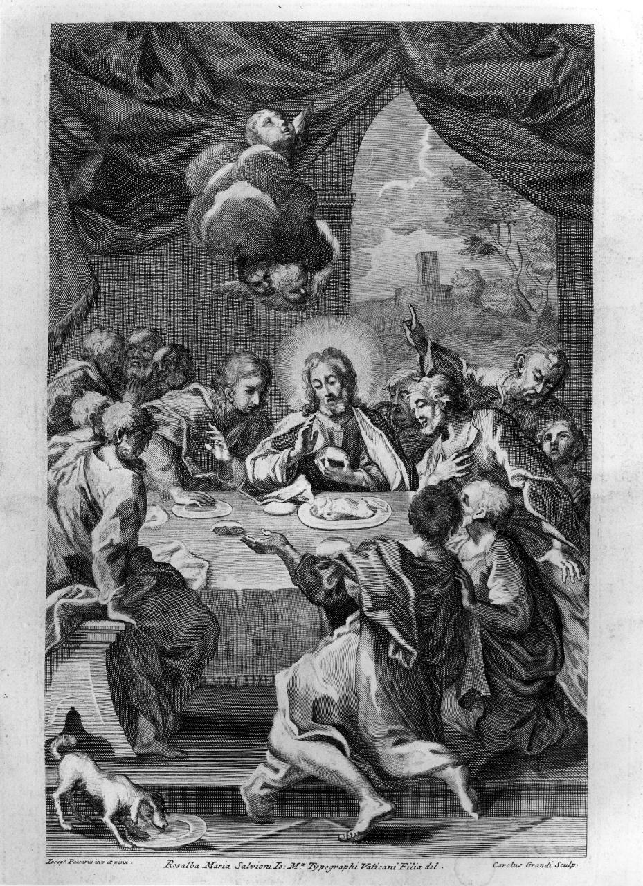 ultima cena (stampa) di Passeri Giuseppe (attribuito), Grandi Carlo (attribuito) (sec. XVIII)