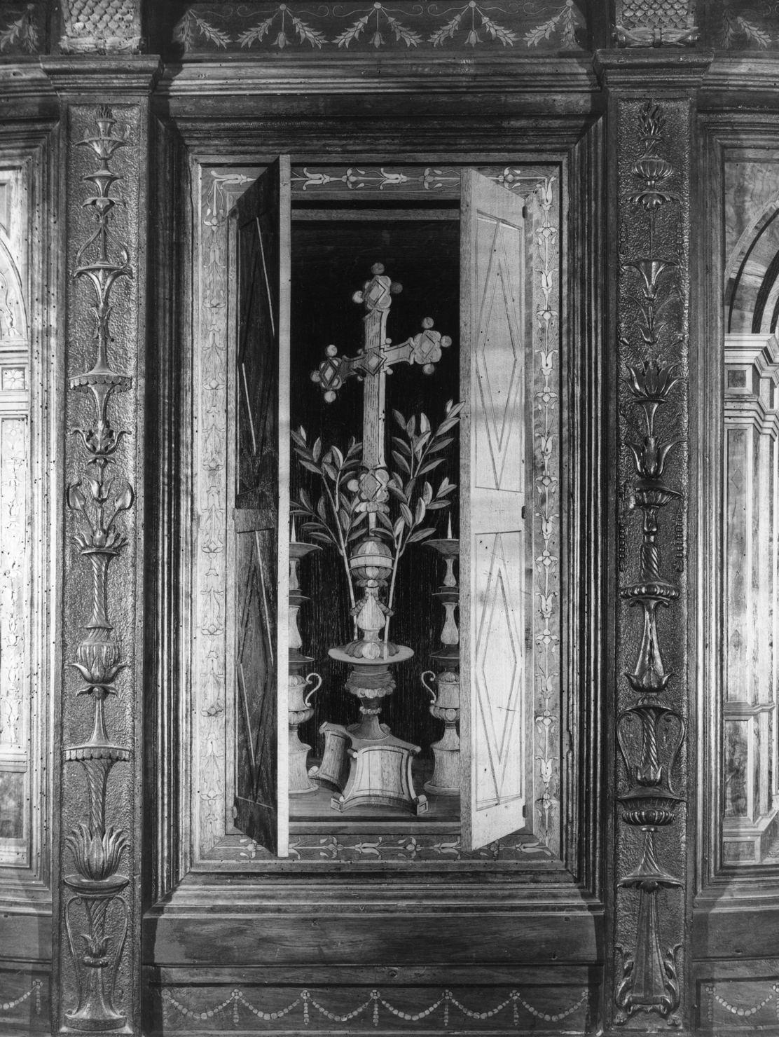 stalli del coro, insieme di Giovanni da Verona (sec. XVI)