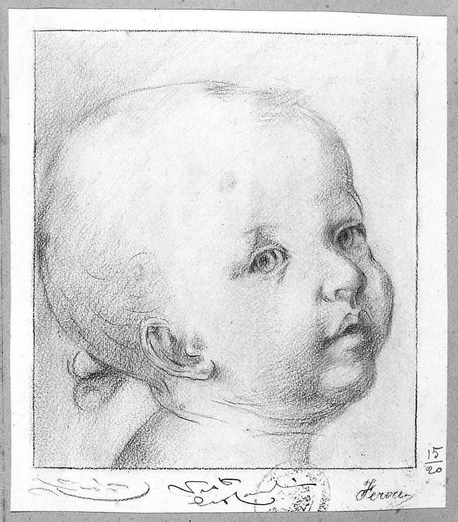 testa di bambino (disegno) di Feroci Corrado (sec. XX)
