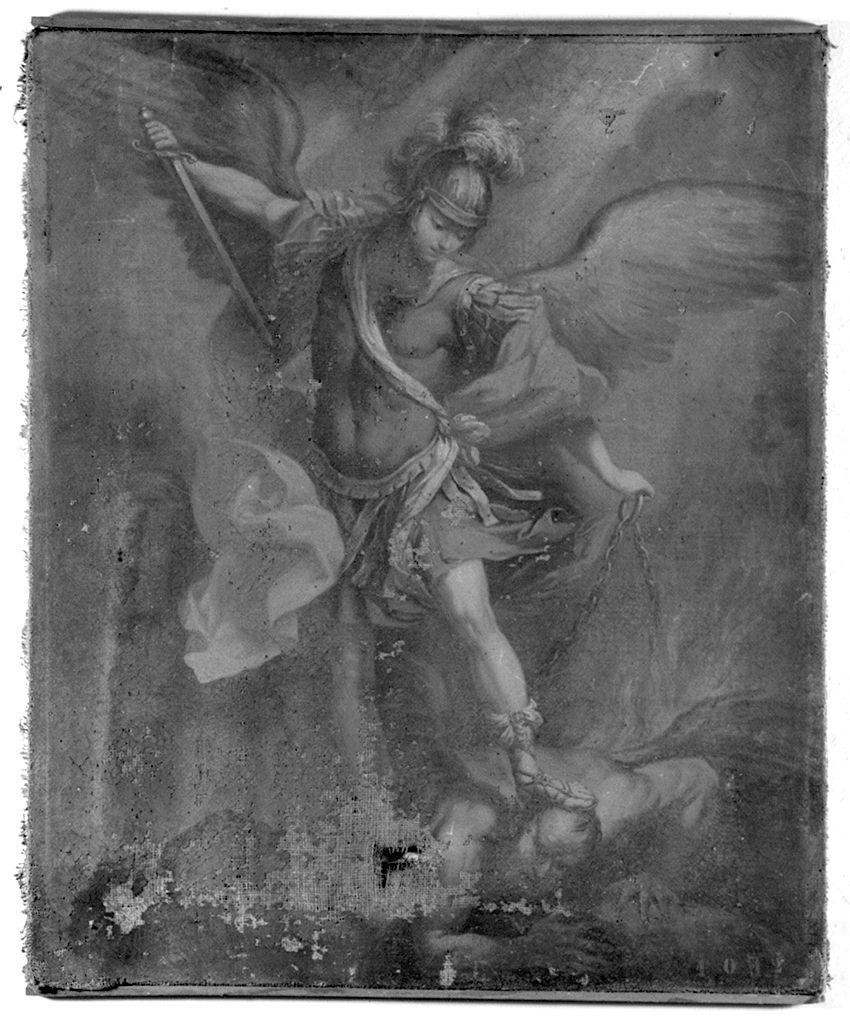 San Michele Arcangelo combatte Satana (dipinto) - ambito fiorentino (sec. XVIII)
