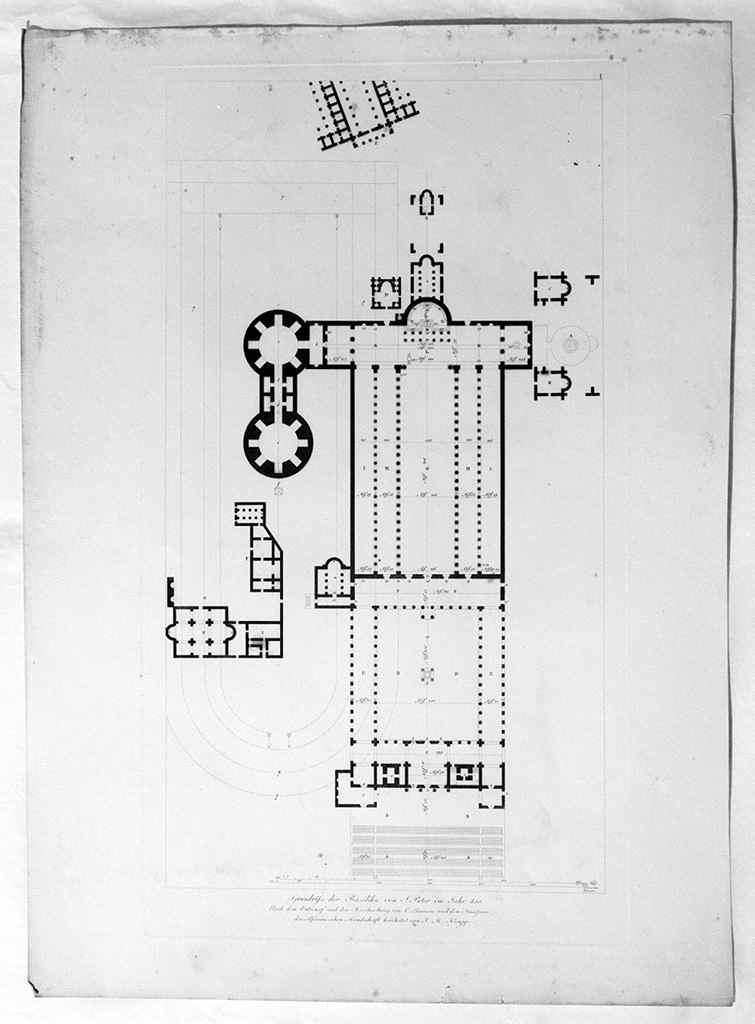rilievi architettonici e decorazioni musive delle chiese di Roma (stampa, serie) - ambito francese (sec. XIX)