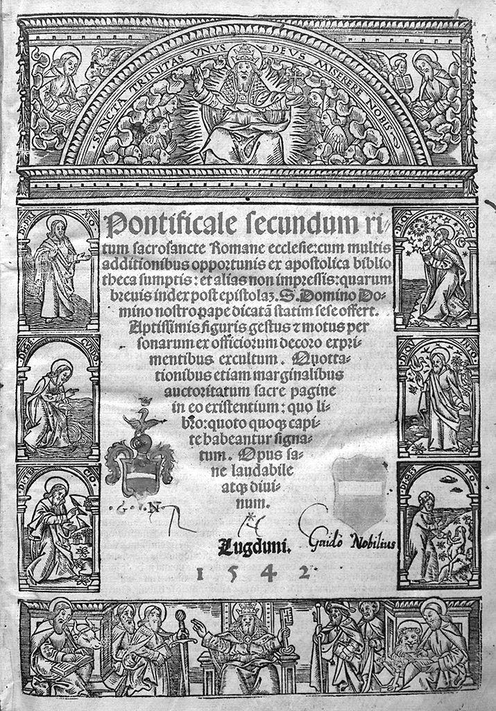 riti ufficiati dal papa, episodi della creazione, evangelisti (stampa, serie) - ambito francese (sec. XVI)