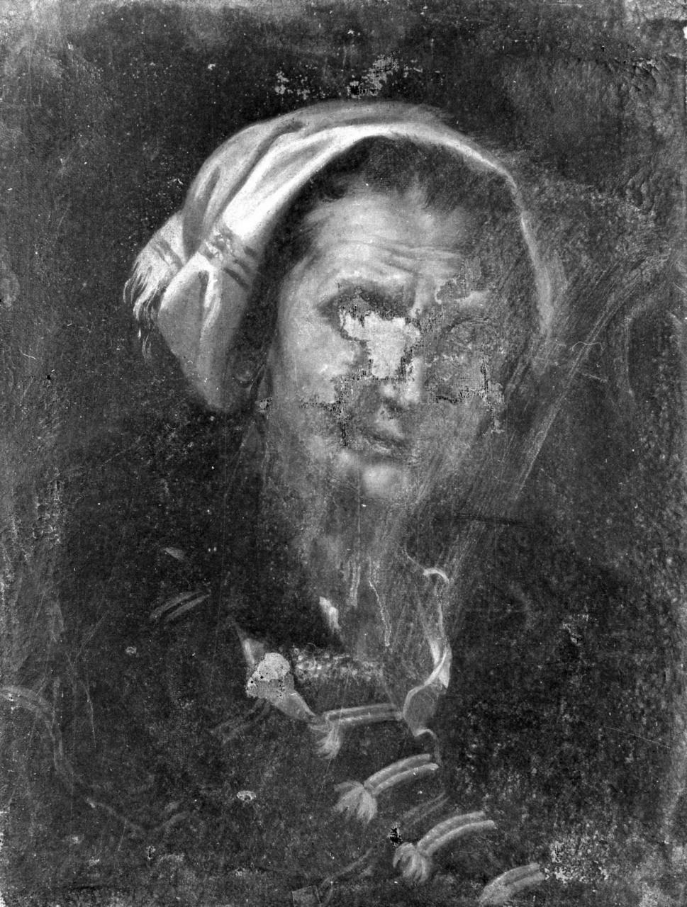 testa di vecchia (dipinto) - ambito Italia centrale (sec. XVIII)