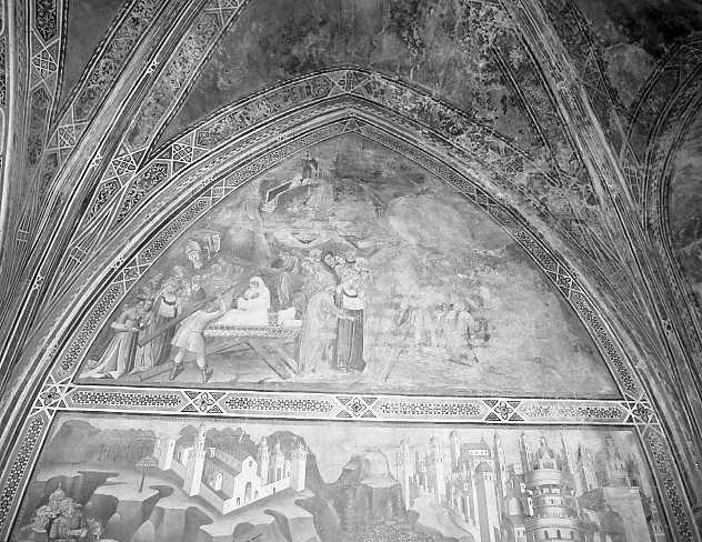 Leggenda della Croce S. Giovanni Battista, leggenda della Vera Croce (dipinto) di Cenni di Francesco di Ser Cenni (sec. XV)