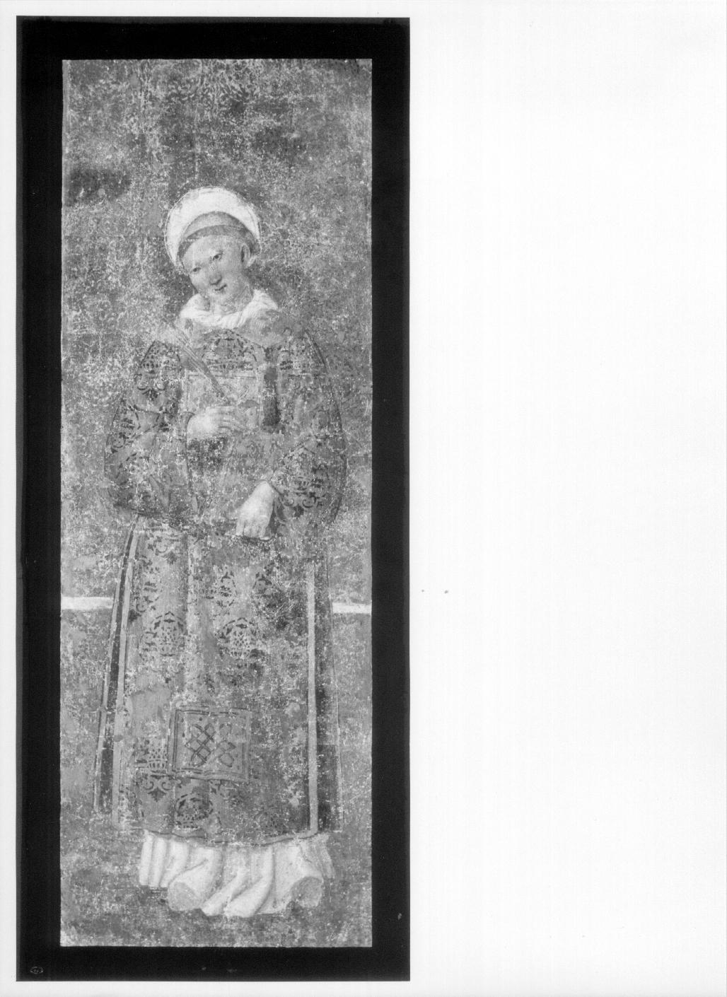 Santo Stefano (dipinto, complesso decorativo) di Giovanni di Pietro detto Spagna (cerchia) (prima metà sec. XVI)
