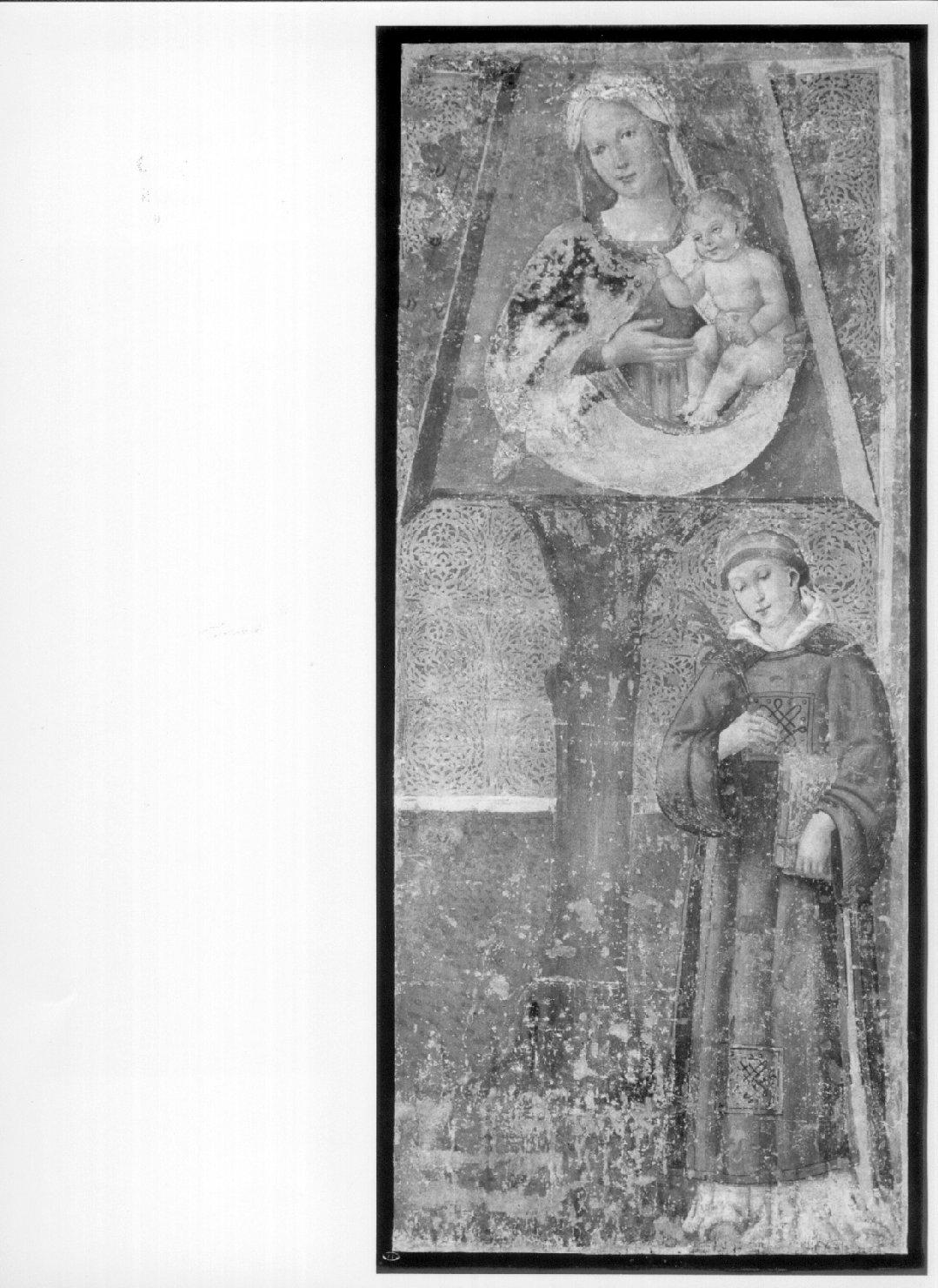 Madonna della Quercia e Santo Stefano (dipinto, opera isolata) di Giovanni di Pietro detto Spagna (cerchia) (prima metà sec. XVI)