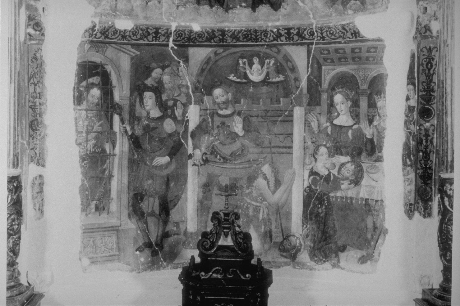 storie della vita di San Giovanni Battista (dipinto, ciclo) di Giovanni di Pietro detto Spagna (cerchia) (sec. XVI)