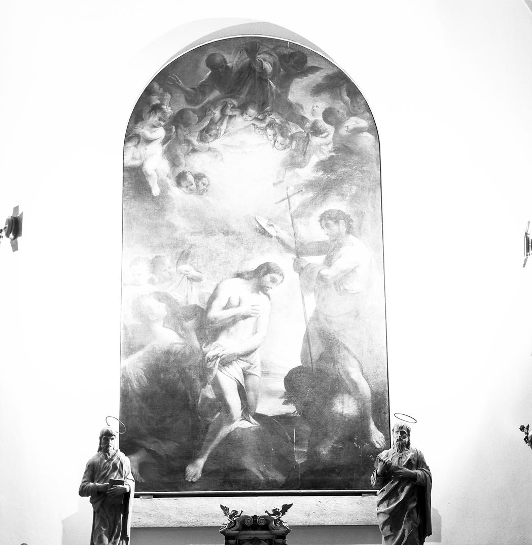 battesimo di Cristo (pala d'altare) di Heintz Daniel (metà sec. XVII)