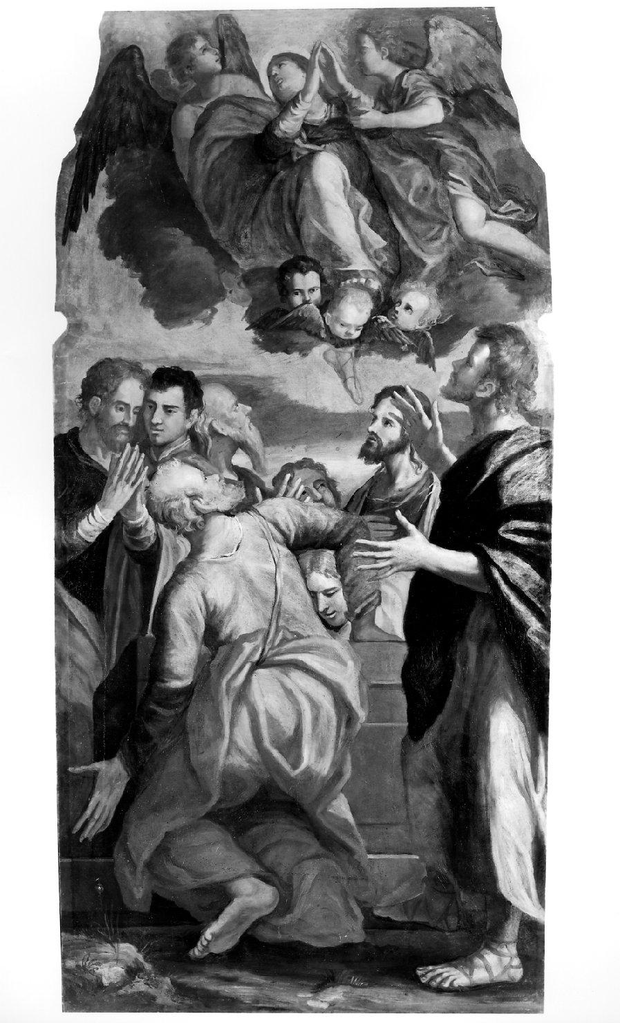 L'Assunzione della Vergine, assunzione della Madonna (dipinto) - bottega veneta (metà sec. XVII)