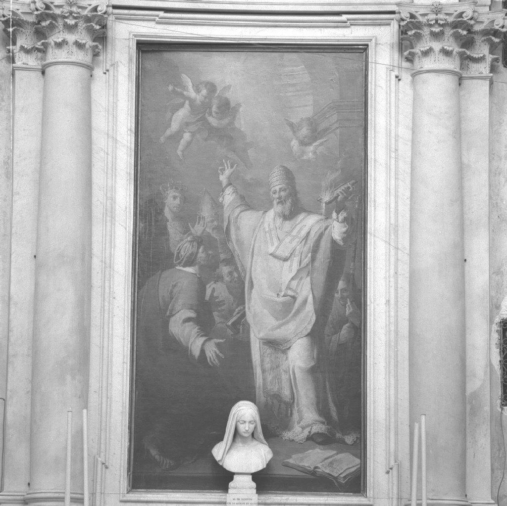 San Spiridione e il prodigio della lucerna (pala d'altare) di Fedeli Domenico detto Maggiotto (sec. XVIII)