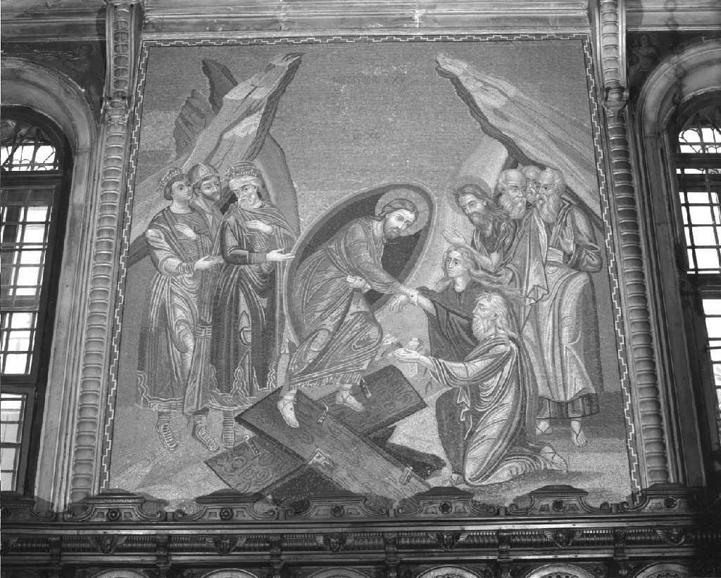 discesa di Cristo al limbo (decorazione musiva) - ambito veneto (sec. XIX)
