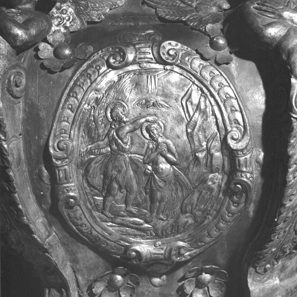 battesimo di Cristo (rilievo, elemento d'insieme) - ambito veneto (sec. XVIII)
