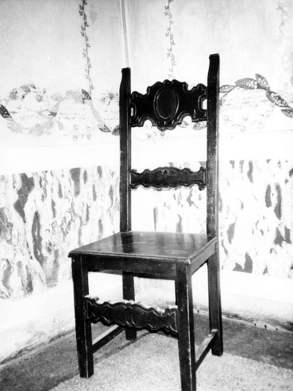 sedia, opera isolata - ambito italiano (prima metà sec. XX)