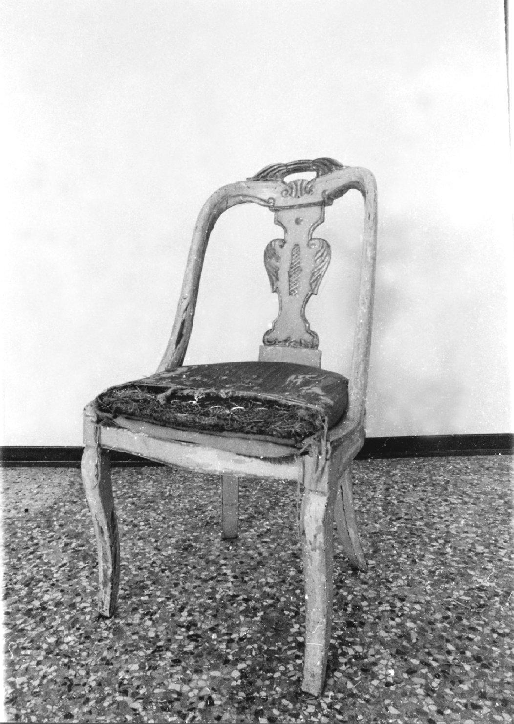 sedia, opera isolata - manifattura lombardo-veneta (secondo quarto sec. XIX)
