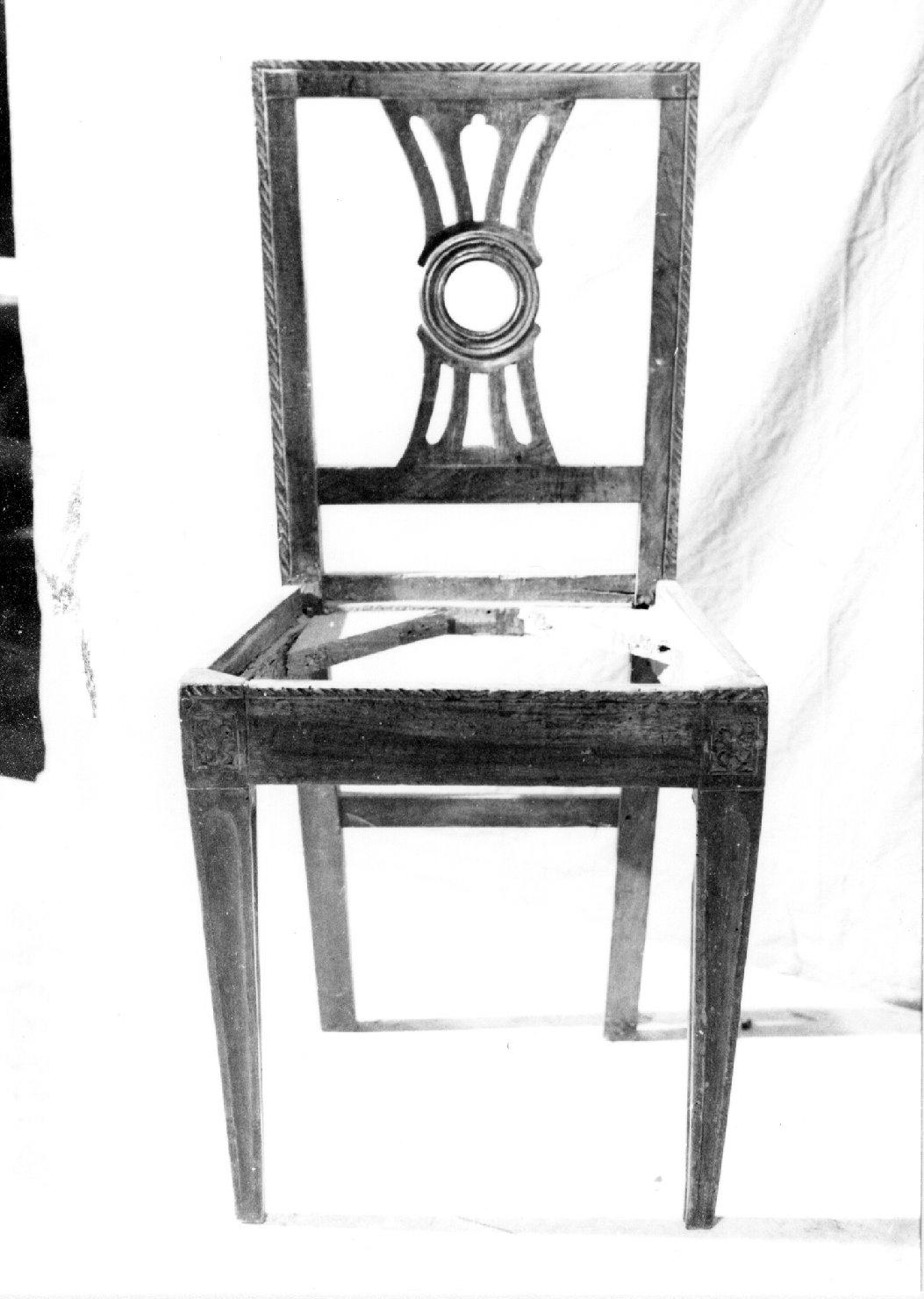 sedia, serie - manifattura lombardo-veneta (sec. XIX)