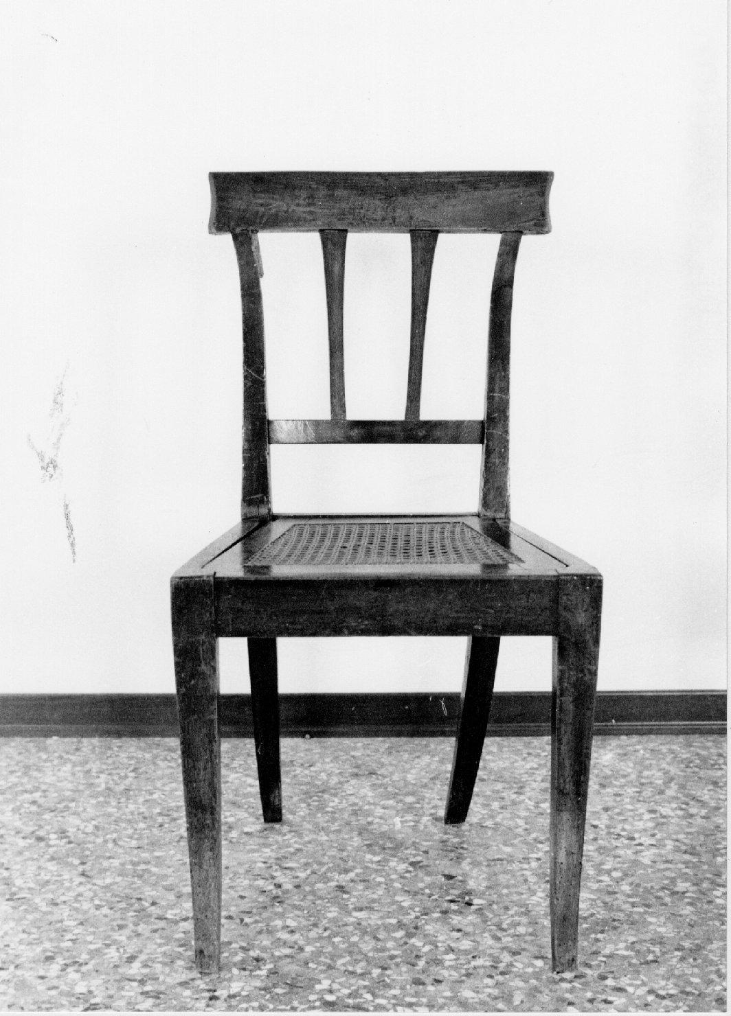 sedia, opera isolata di Casadoro Giovanni (sec. XIX)