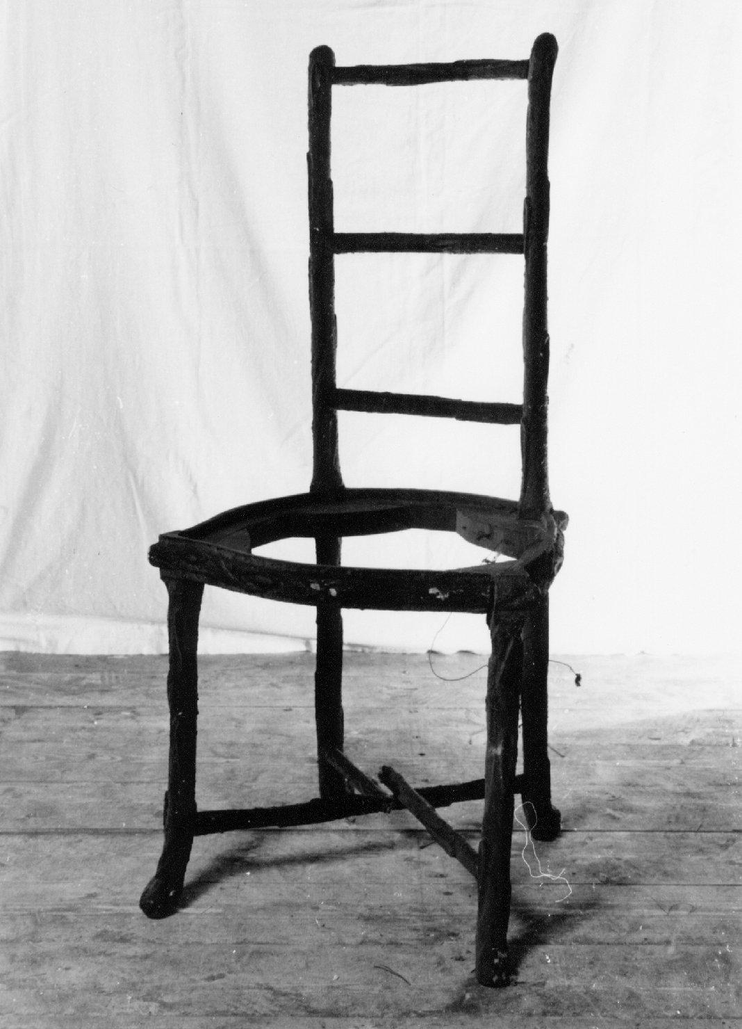 sedia, opera isolata - manifattura veneta (metà sec. XIX)