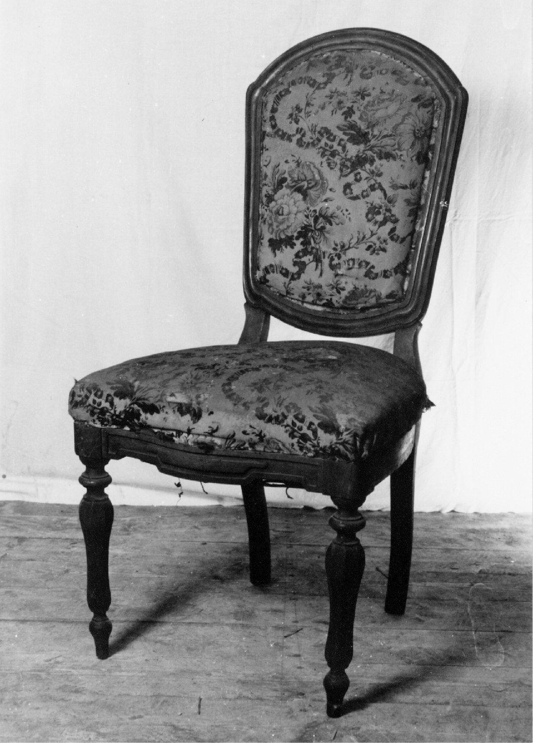 sedia, serie - manifattura lombardo-veneta (metà sec. XIX)
