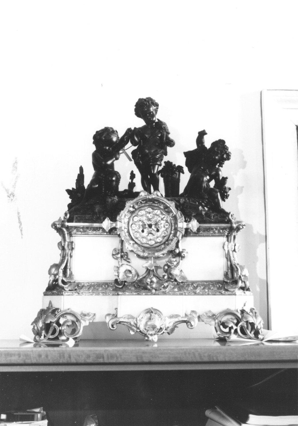 orologio, opera isolata - manifattura francese (metà sec. XIX)