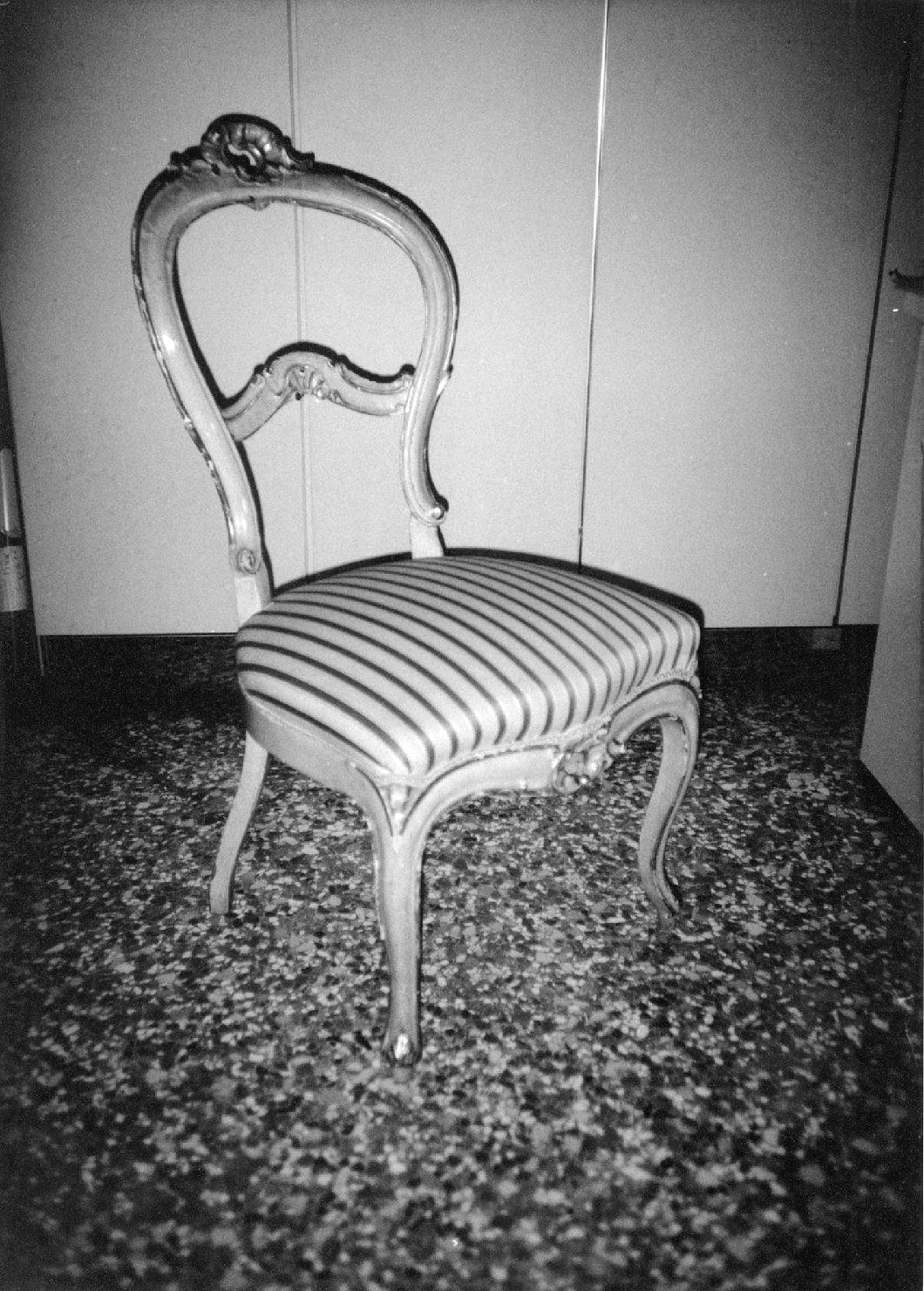 sedia, opera isolata - manifattura veneziana (sec. XIX)