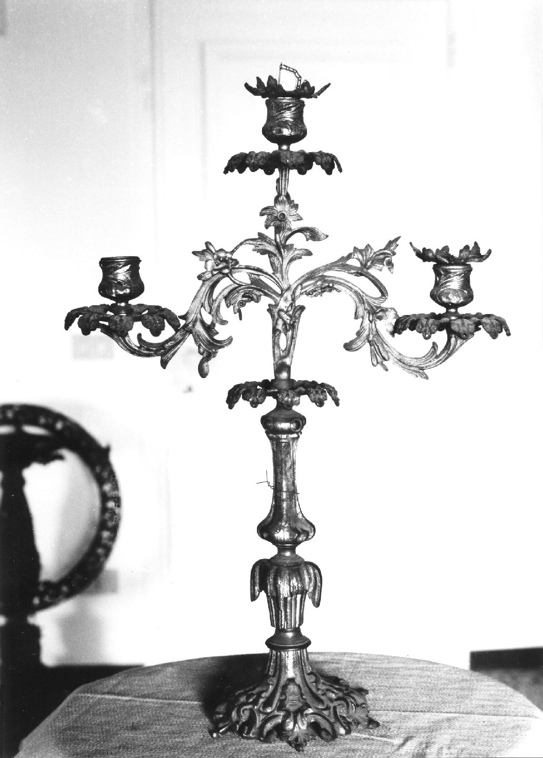 candelabro, serie - manifattura Italia settentrionale (metà sec. XIX)