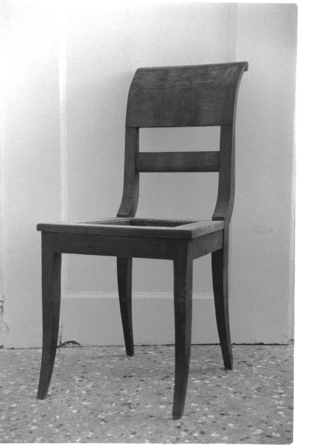 sedia, opera isolata - manifattura lombardo-veneta (sec. XIX)