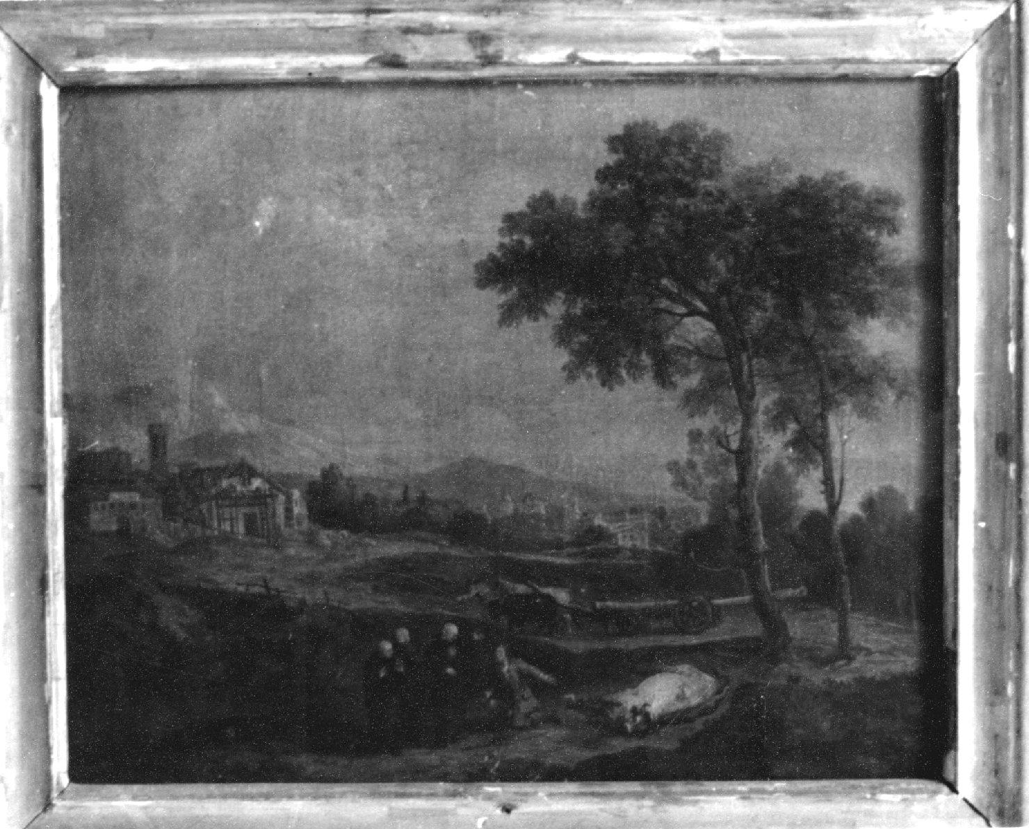paesaggio rurale (dipinto, opera isolata) di Zuccarelli Francesco (sec. XVIII)