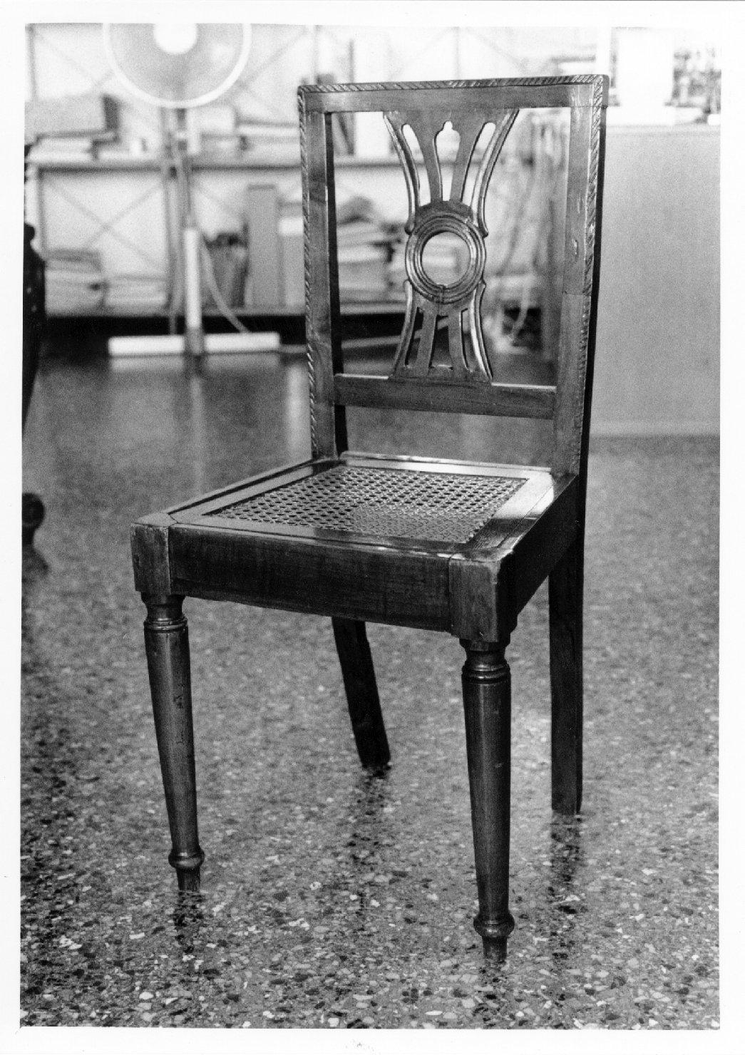 sedia, opera isolata - manifattura veneta (sec. XIX)