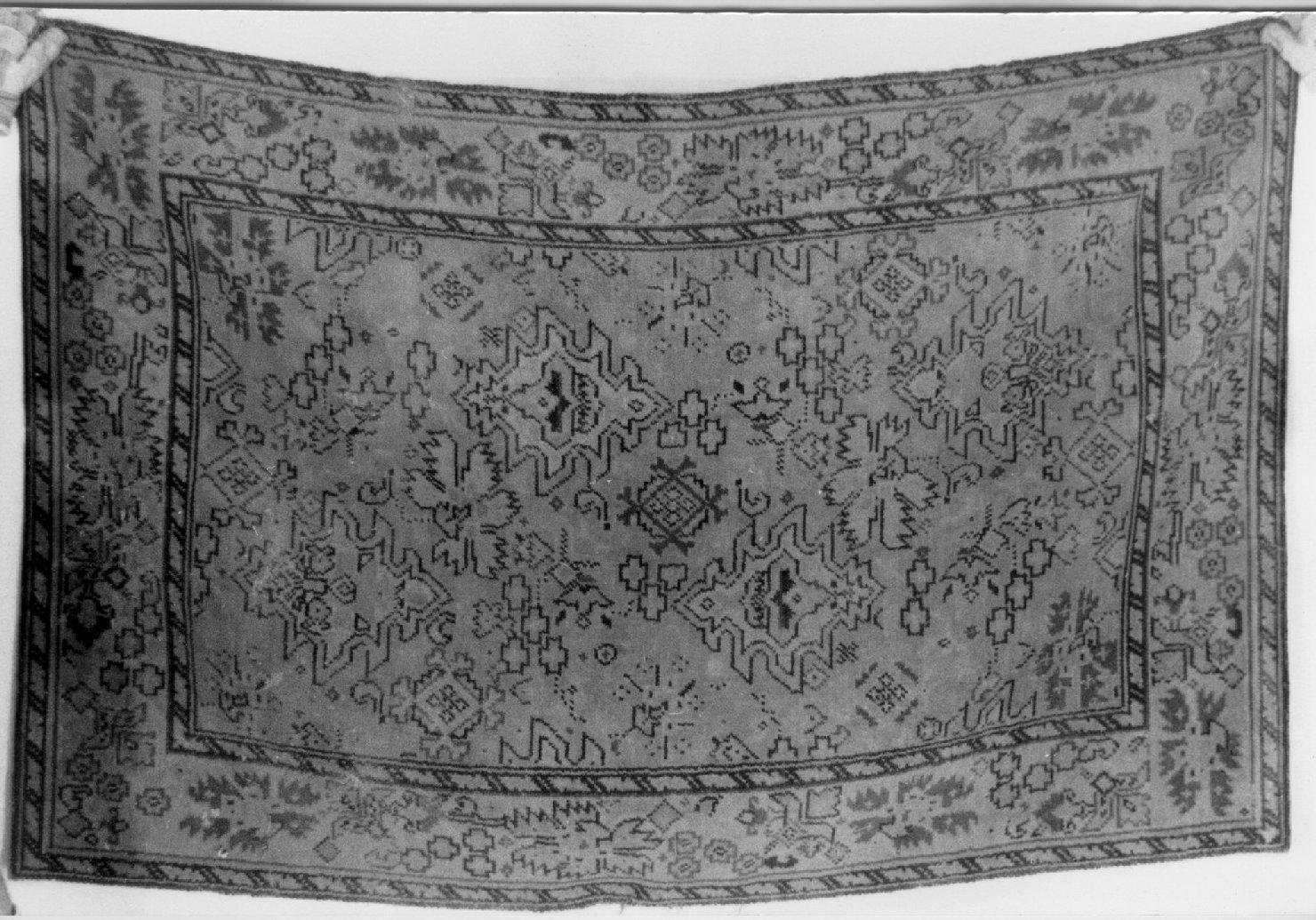 tappeto, opera isolata - ambito Italia settentrionale (seconda metà sec. XIX)