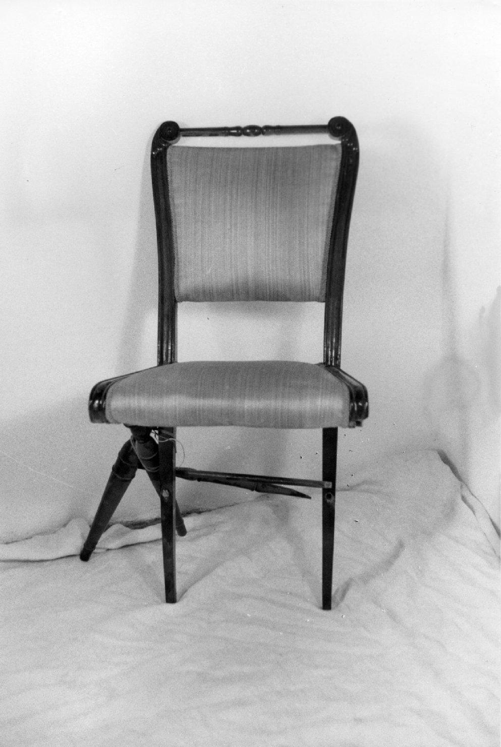 sedia, opera isolata - ambito parmense (metà sec. XIX)