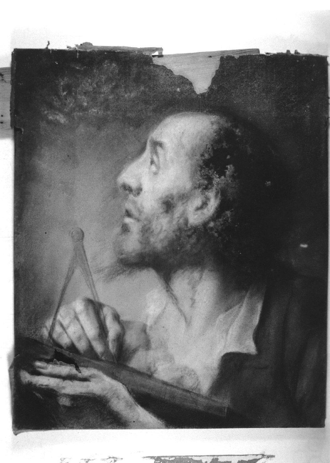 ritratto di filosofo (disegno, opera isolata) di Piazzetta Giovanni Battista (attribuito) (prima metà sec. XVIII)