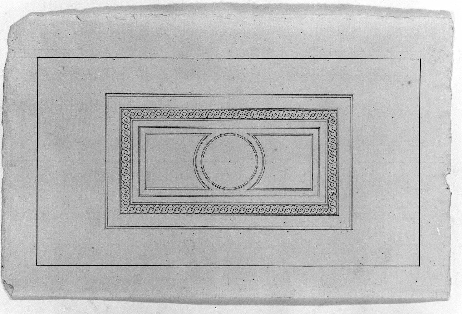 pannello decorato (disegno) - ambito Italia settentrionale (seconda metà sec. XIX)