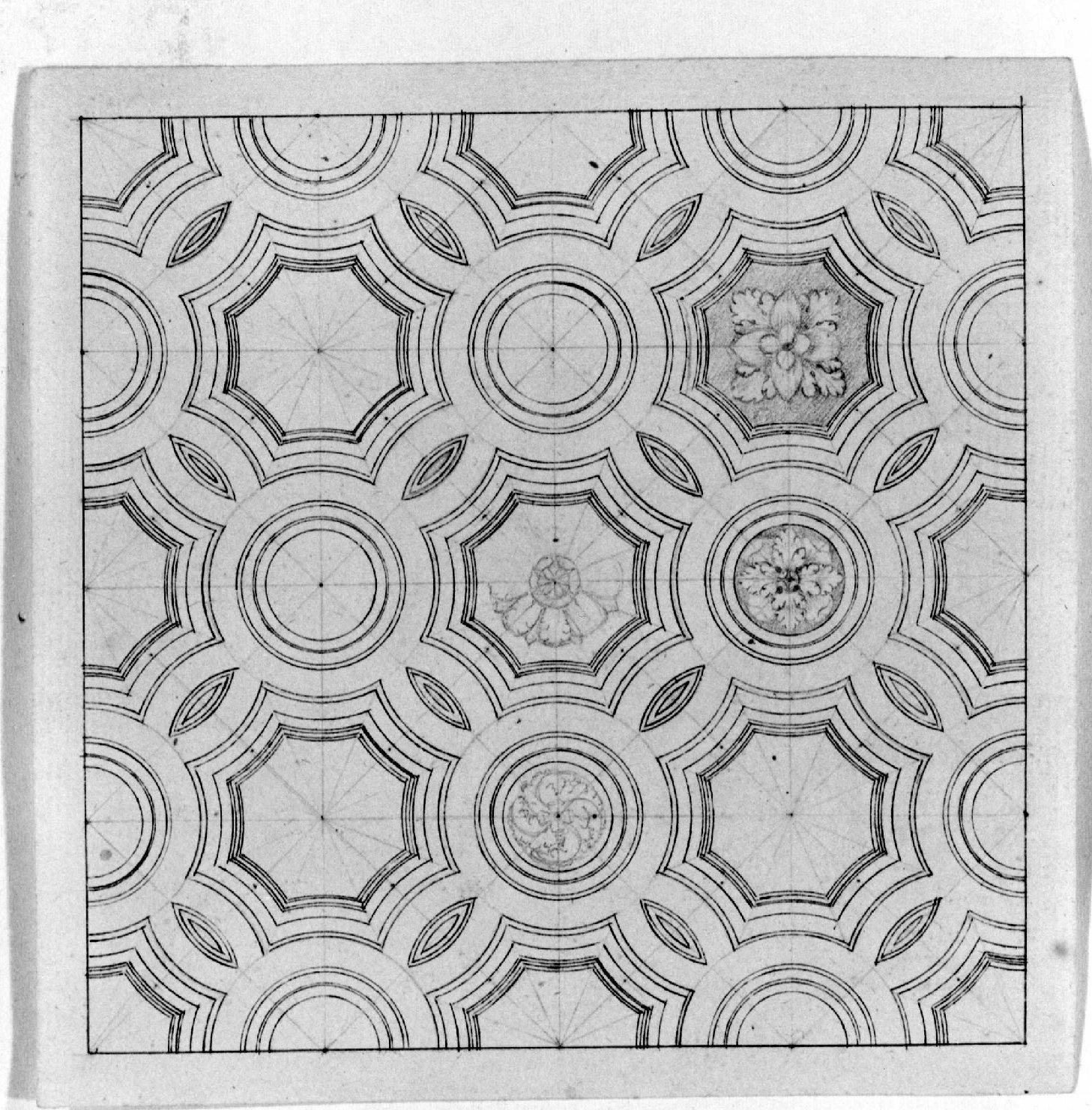 motivi decorativi (disegno) - ambito Italia settentrionale (seconda metà sec. XIX)