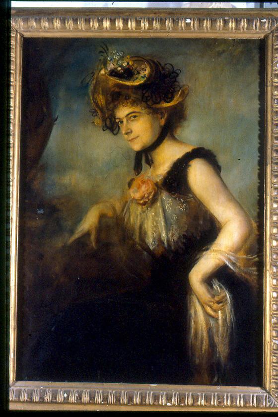 ritratto di donna (dipinto, opera isolata) di Von Lenbach Franz (secc. XIX/ XX)