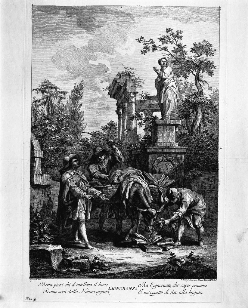 scena campestre con figure (stampa) di Berardi Fabio, Zocchi Giuseppe (seconda metà sec. XVIII)